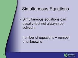simultaneous equations tes powerpoint
