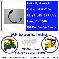 Tvs King Tuk Tuk Spares Brake Light Switch Buy Tuk Tuk Spare Parts Brake Light Switch Regular Sellers Tvs Tuk Tuk Spare Parts Brake Light Switch