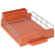 KitchenAid 3 Piece Dish Drying Rack (Orange): Amazon.co.uk: Kitchen & Home