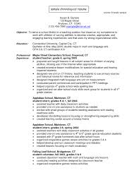 Best S Of Simple Chronological Resume Template Chronological Resume