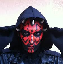 darth maul from star wars makeup tutorial