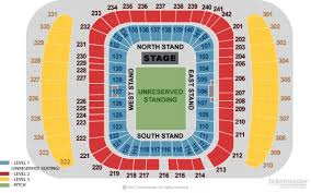 Etihad Stadium Manchester Seating Chart Manchester Etihad Stadium Events Concerts Tickets 2019
