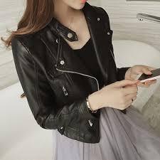 Biker Jacket PU Leather Jacket/Outerwear/Fashion Jacket ... - Qoo10