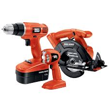 black and decker tools. black \u0026 decker 3-tool nickel cadmium (nicd) brushed motor cordless combo kit black and decker tools c