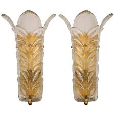 murano glass sconces by toso and barovier  glass (murano
