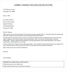 Examples Of Follow Up Emails Thank You Email After Interview