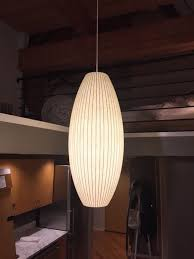 george nelson bubble lamp large cigar pendant in west town cook plan 9