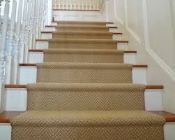 k powers wool herringbone stair runner beige