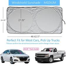 Windshield Sun Shade Suv Car Size Chart With Your Vehicle Universal Quality 210t Keep Vehicle Accessories Cool Uv Sun And Heat Reflector Sunshade