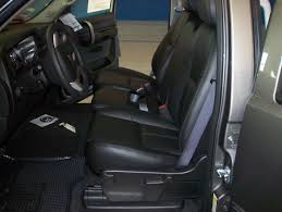 after photo black leather installed silverado 2008