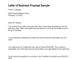 Sample Of Proposal Letters Sample Business Proposal Letters Scrumps