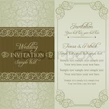 Baroque Wedding Invitations Baroque Wedding Invitation Card In Stock Vector Colourbox