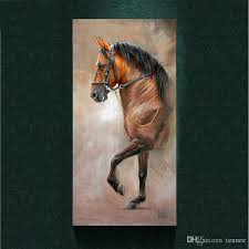 2018 modern salute the horse painting picture abstract art print on the canvas animal canvas poster painting prints wall home decor poster from tennee