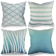 teal decorative pillows. Brilliant Pillows Popeven Set Of 4 Pillow Covers 18 X Teal Decorative Pillows For Couch  Square Design To E