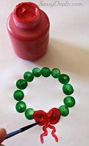 Kids Crafts For Christmas Cute Fingerprint Christmas Wreath Craft For Kids Crafty Morning