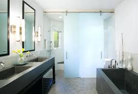 frosted glass interior bathroom doors fabulous sliding frosted glass interior bathroom doors with stainless steel door track and rollers with frosted