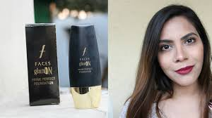 faces glam on prime perfect foundation review india best natural looking foundation best
