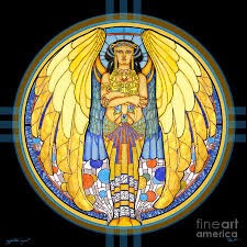 Egyptian Glass Painting Designs Egypt Stained Glass Artist 48x48 Egyptian Angel Painting