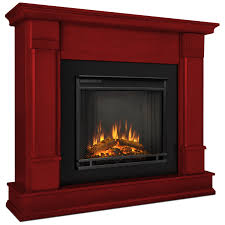 silverton indoor ventless electric fireplace in rustic red