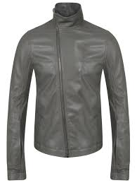 rick owens classic gray jacket top brands for leather jackets 15