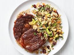ed steak with cauliflower rice recipe food network kitchen food network