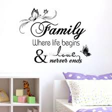 creative office decor. Family Home Decor Creative Quote Wall Decals Decorative Removable Vinyl Sticker Office Decoration Mural
