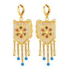 u7 women s elegant party jewelry 18k real gold plated romantic snowflakes chandelier earrings 3417730 2018 22 82