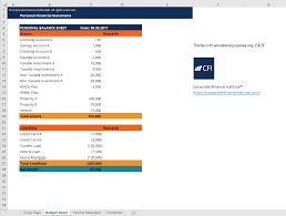 Personal Financial Statement Excel Template Get Free Template