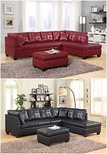 leather living room furniture sets. Brand New Pu Leather Living Room Furniture Sectional Sofa Set In Black/Red Sets