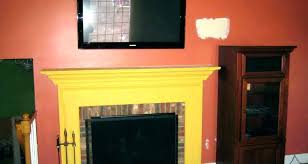 mounting tv stone fireplace above on brick mount a uneven