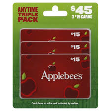 applebees gift cards 45 anytime triple pack