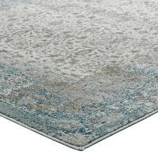 teal and brown area rug distressed vintage fl lattice area rug in teal brown and beige