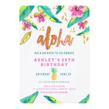 Tropical Party Invitations Tropical Invitations Zazzle