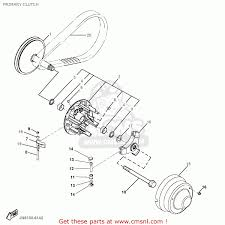 Clutch assembly diagram yamaha g16 ap ar 1996 1997 primary clutch original primary of clutch assembly