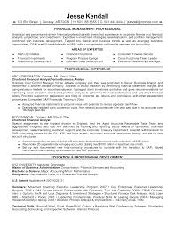 Sample Resume Of A Financial Analyst Resume For Study