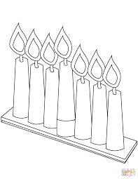 Small Picture Seven Candles for Kwanzaa coloring page Free Printable Coloring