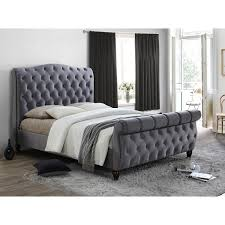 upholstered sleigh bed frame. Delighful Sleigh Colorado Fabric Bed Frame King With Bedmaster Pine Rest Quilted Mattress  Kingsize And Upholstered Sleigh P