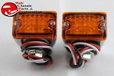 1954 chevy parking light custom mini led lights amber park turn signal clearance marker truck hot rod fits
