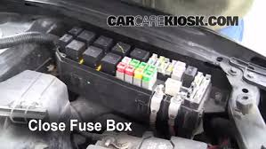 blown fuse check 2001 2006 mazda tribute 2002 mazda tribute dx 6 replace cover secure the cover and test component