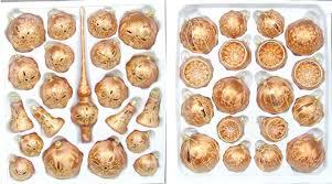 Weihnachtssortiment Eislack Kupfer Mit Goldverzierung In