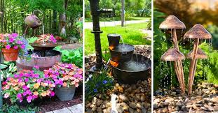 diy outdoor fountain ideas brightening