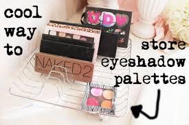 Eyeshadow & Make-Up Palettes storage - 17 Great DIY Makeup Organization and  Storage Ideas