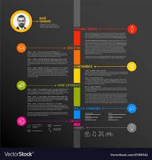 Timeline Minimalist Cv Resume Template Royalty Free Vector Resume