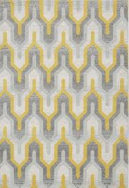 nova nv14 geo rugs in yellow and grey modern rugs for uk
