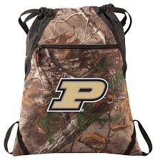 home college logo gifts purdue gifts purdue realtree camo cinch pack