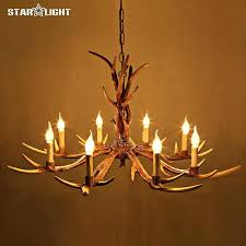 antler chandelier kit deer horn chandelier country 6 head candle antler chandelier retro resin deer antler chandelier kit