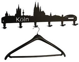 Wandgarderobe - Köln Skyline - Flurgarderobe - Garderobenhaken ...