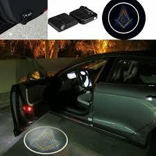 Custom Door Lights That Shine On The Ground Masonic Car Door Led Lighting Logo Car Shadow Logo