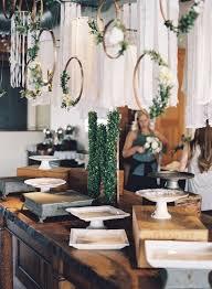 Chic Rustic Greenery Wedding Dessert Table Decoration Ideas Oh