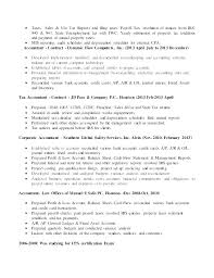 Sample Accountant Resume Inspiration Tax Accountant Resume Sample Nmdnconference Example Resume